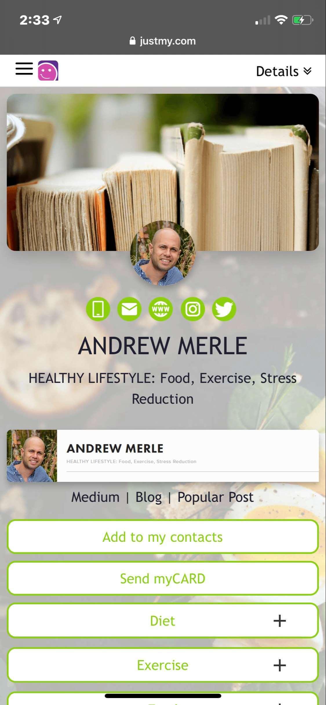 myCARD     Andrew Merle